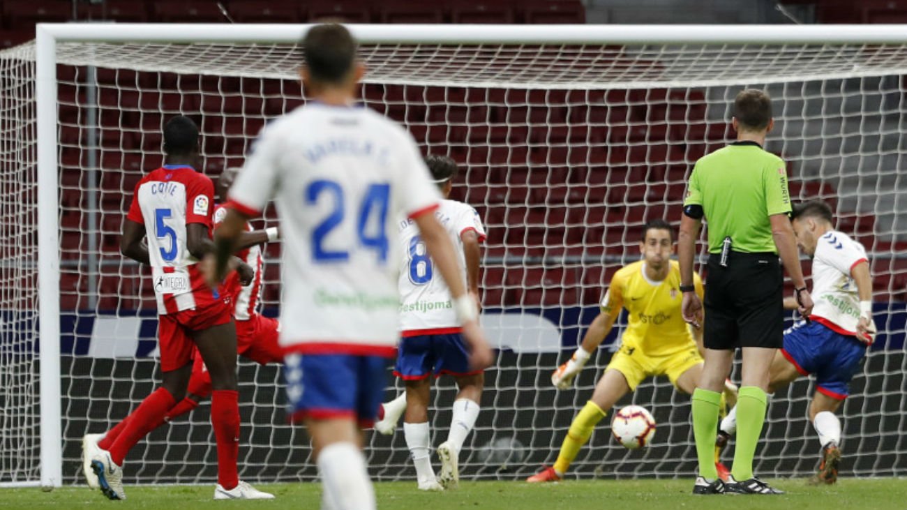 Gol de Isaac Carcelén al Sporting de Gijón
