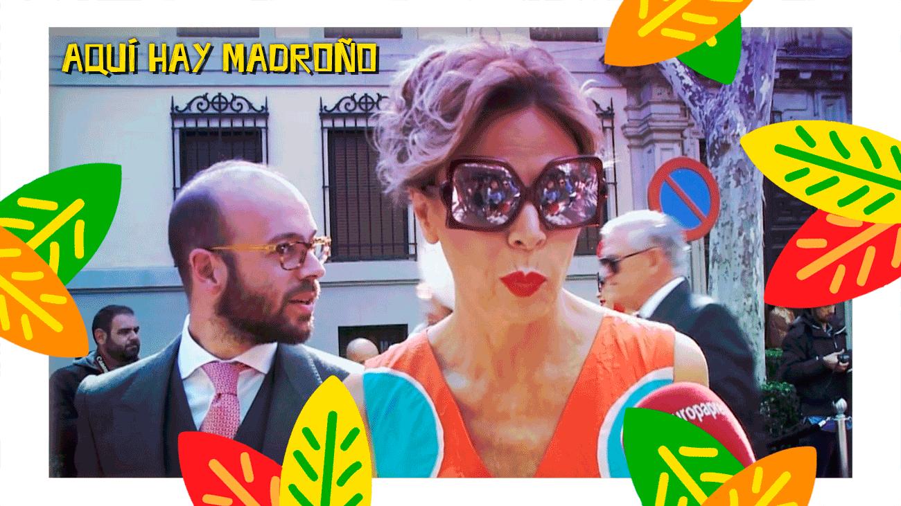 Ágatha Ruiz de la Prada se lo pasa bomba en la boda del año