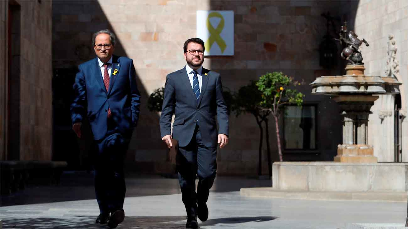 Crisis abierta en el Govern catalán por los diputados suspendidos
