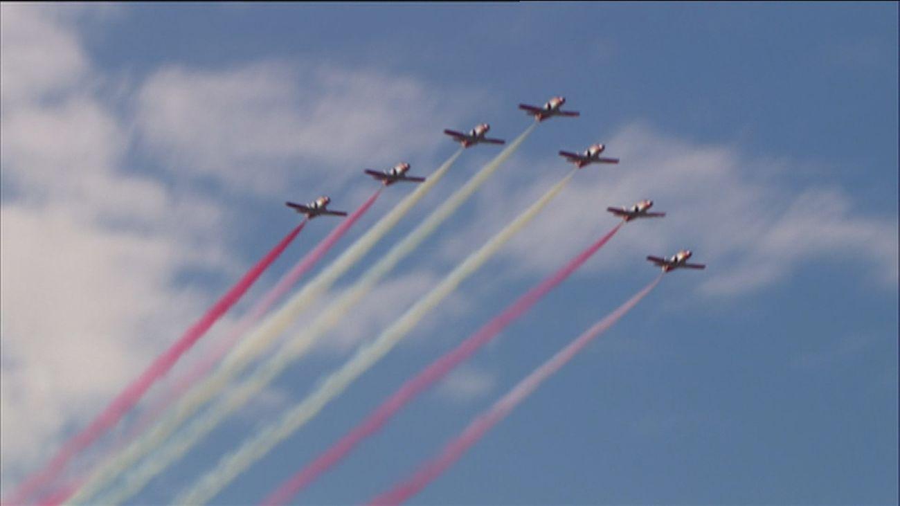 Suspendido el desfile aéreo del 12-O a causa del mal tiempo
