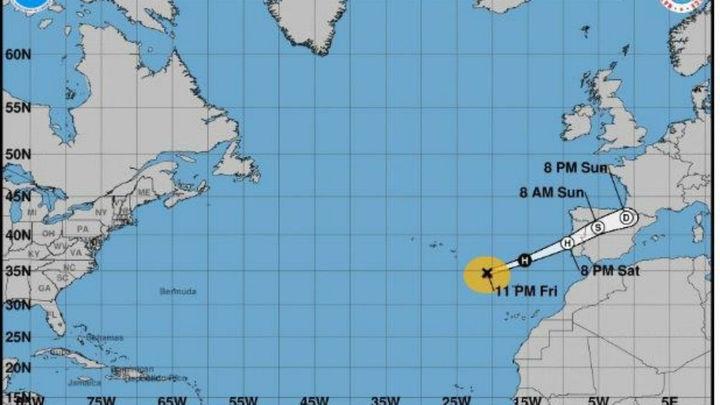 Leslie llegará a España la próxima madrugada con vientos de hasta 100 km/h