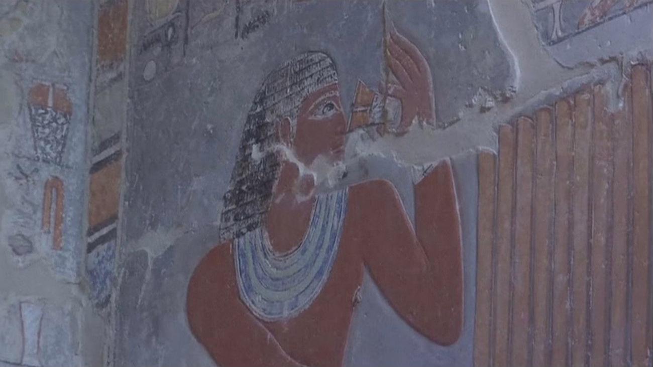 Abierta la tumba del visir Mahu, joya del Antiguo Egipto