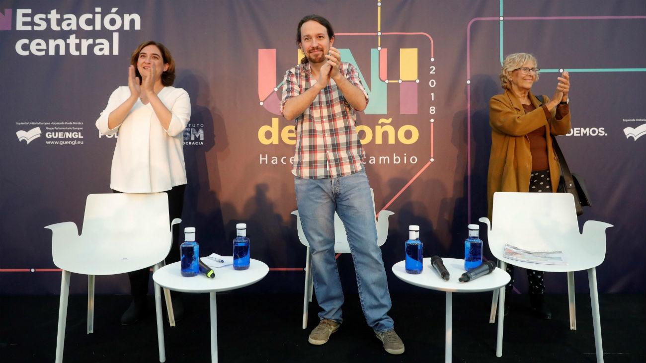Carmena y Colau reivindican su gestión en los 'ayuntamientos  del cambio'