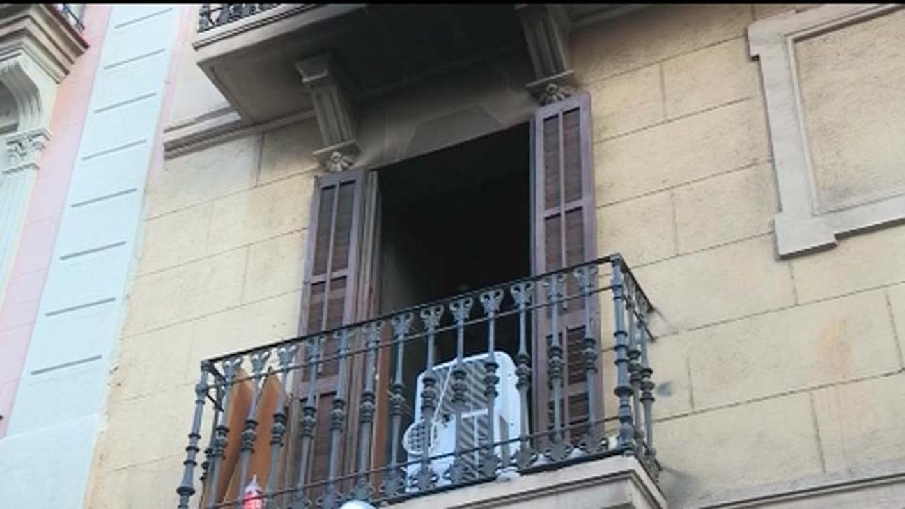 Detenido como autor del incendio uno de los heridos en Barcelona