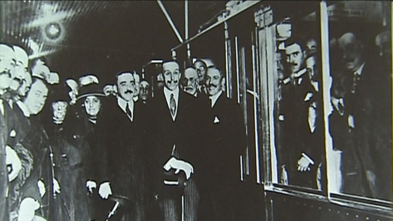 Alfonso XIII inauguró la primera línea Sol-Cuatro Caminos en 1919