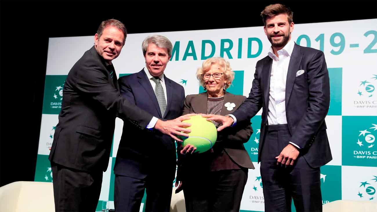 """Madrid celebra """"el sueño de Piqué"""" de la nueva Copa Davis"""