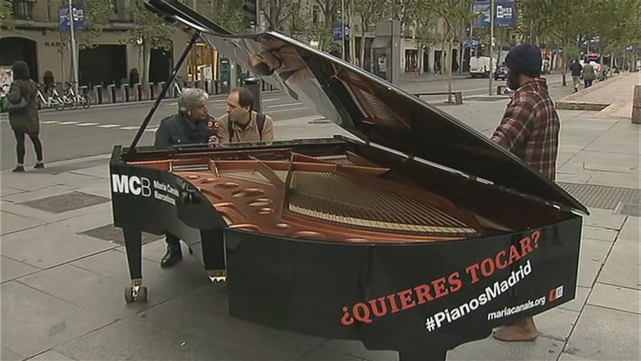 Ocho pianos de cola en las calles de Madrid
