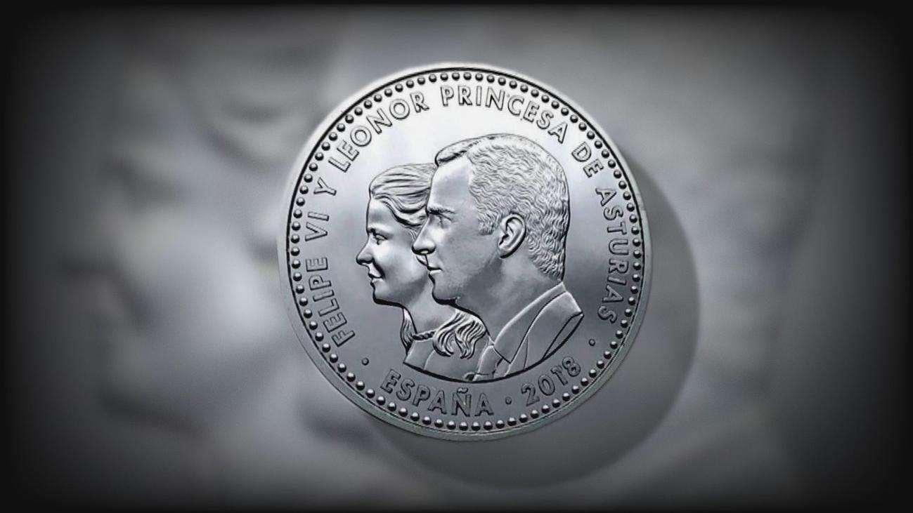 La moneda con la polémica imagen de la Princesa Leonor sale  a la venta