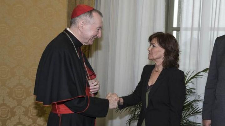 """Calvo no se siente """"en abosoluto"""" desautorizada por el Vaticano"""
