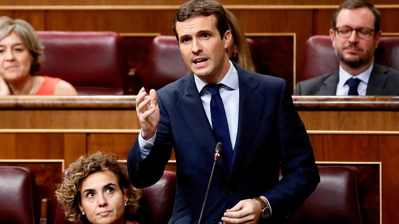 """Casado acusa a Sánchez de """"pisotear"""" la democracia por mandato de """"golpistas"""""""