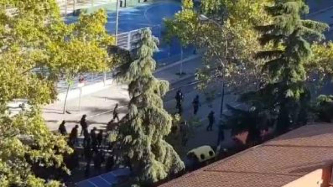 Tres heridos en una pelea entre ultras en Vallecas