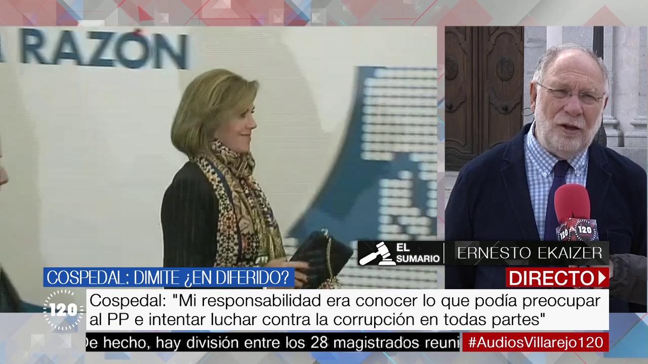 """Ekaizer: """"Cospedal ha sido honesta, no desmiente la contratación de Villarejo"""""""