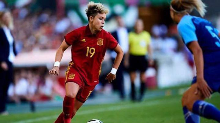 Hablamos con Amanda Sampedro tras el del 3-1 de España a Polonia