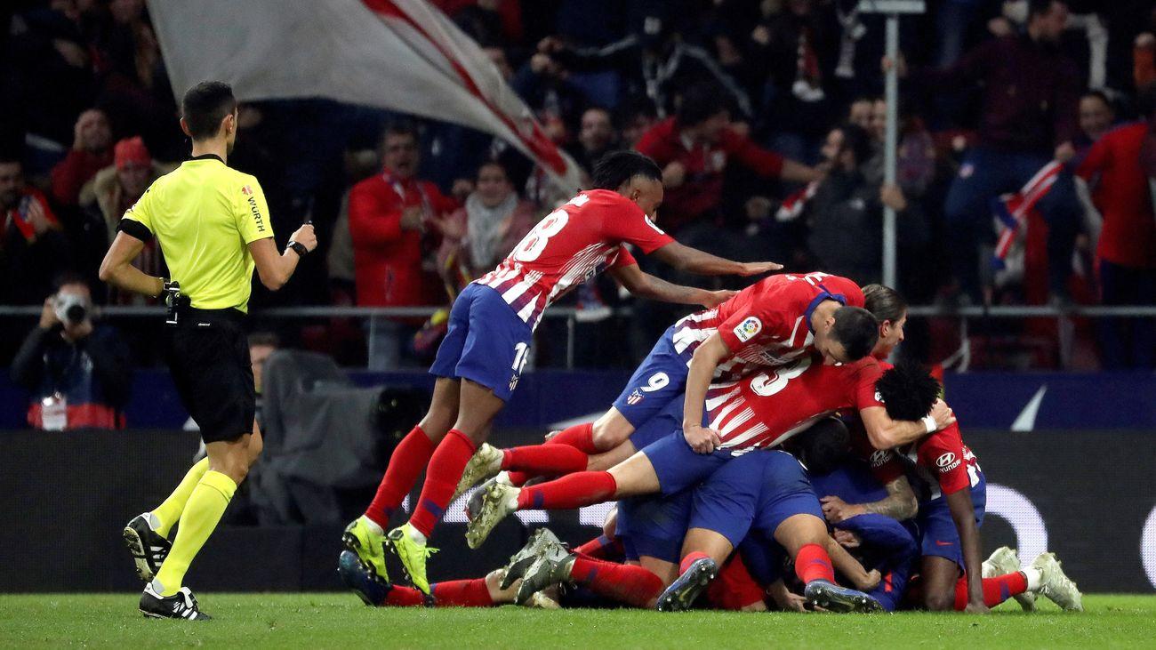 3-2 Angustiosa victoria del Atletico de Madrid