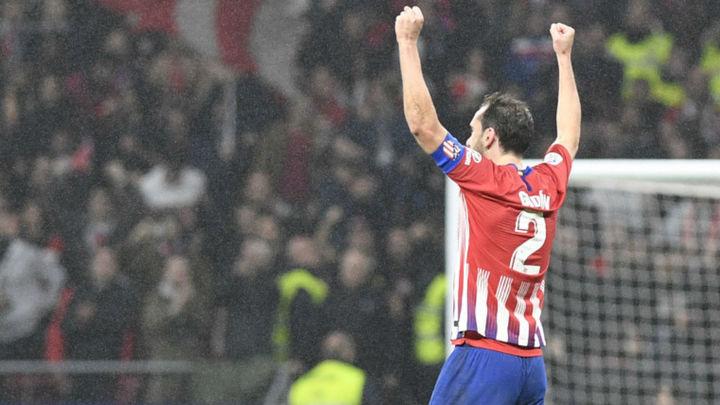 El gol de Godín con el que el Atlético de Madrid consigue la victoria