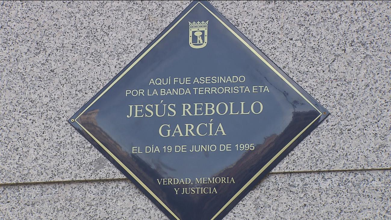 Una placa en Callao recuerda a Jesús Rebollo, policía municipal asesinado por ETA en 1995