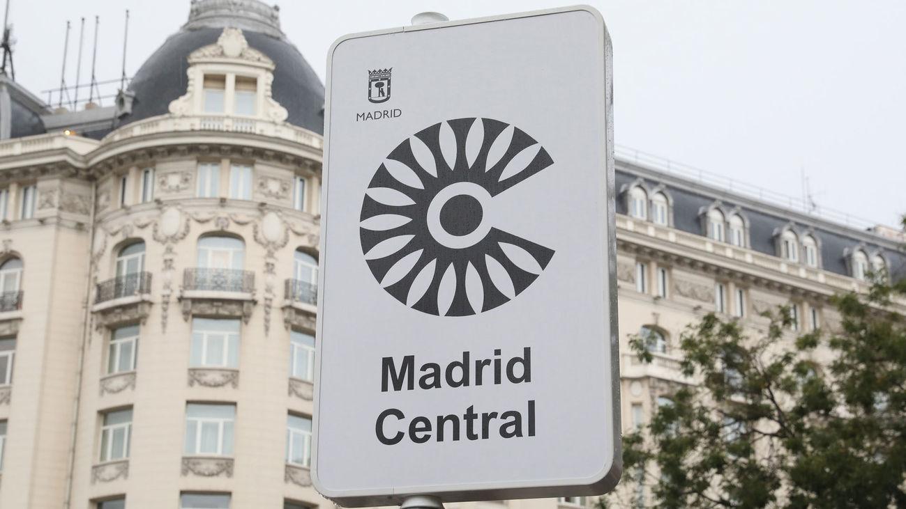 Poste identificativo de Madrid Central