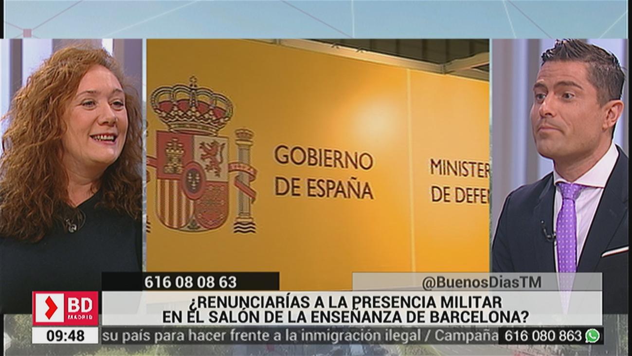 ¿Renunciarías a la presencia militar en el salón de la enseñanza de Barcelona?