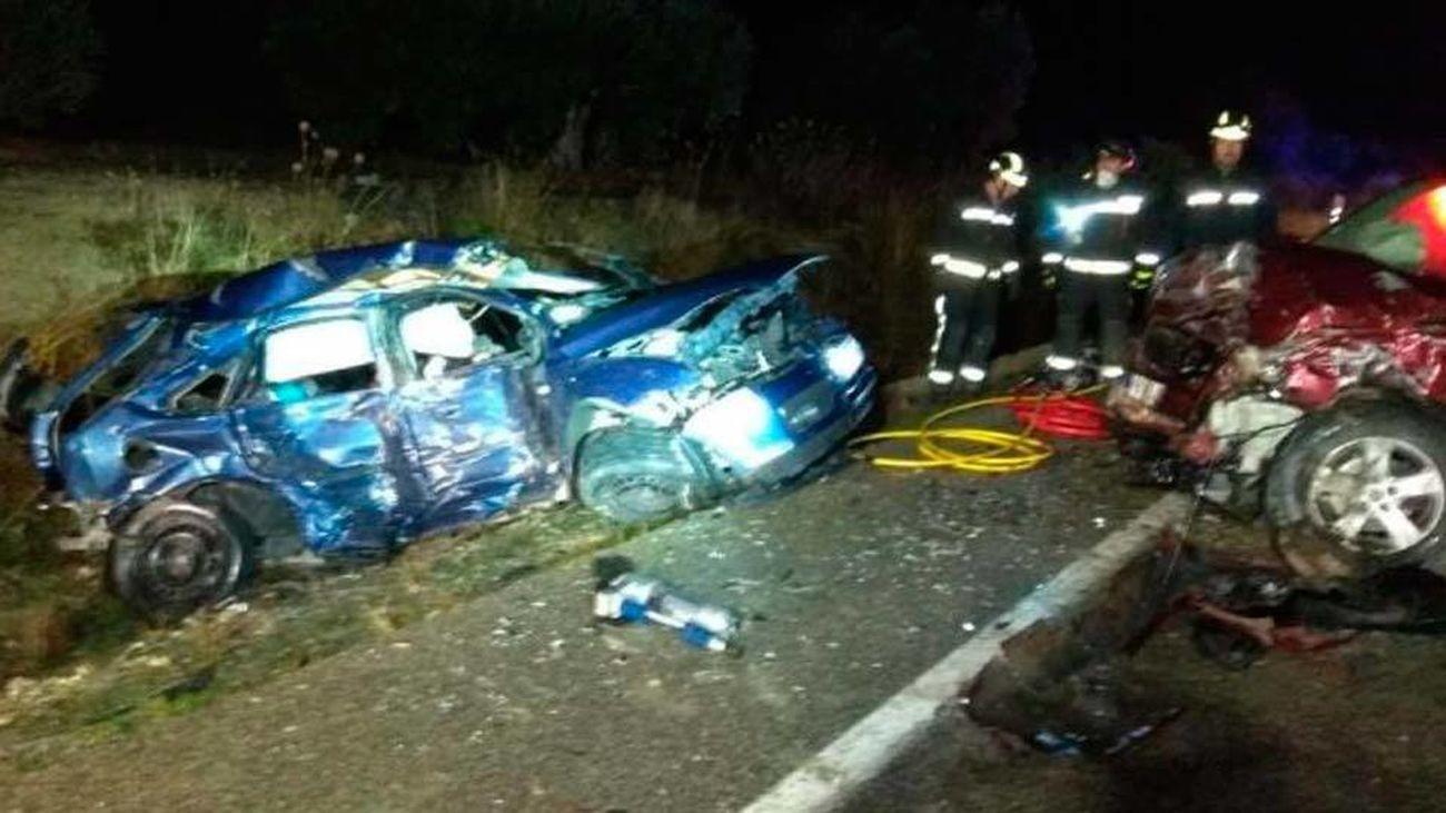 Uno de los coches implicado en el accidente en Jaén