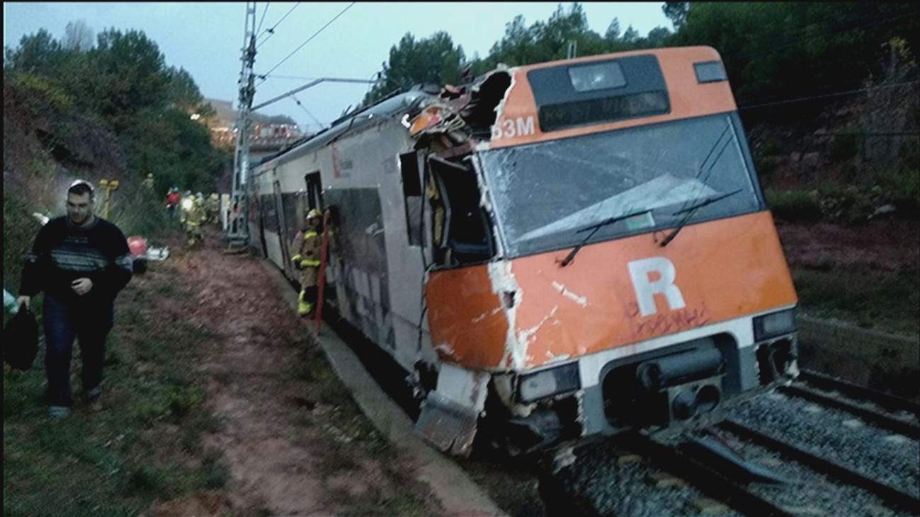 Las primeras imágenes del accidente de un tren de Cercanías en Vacarisses