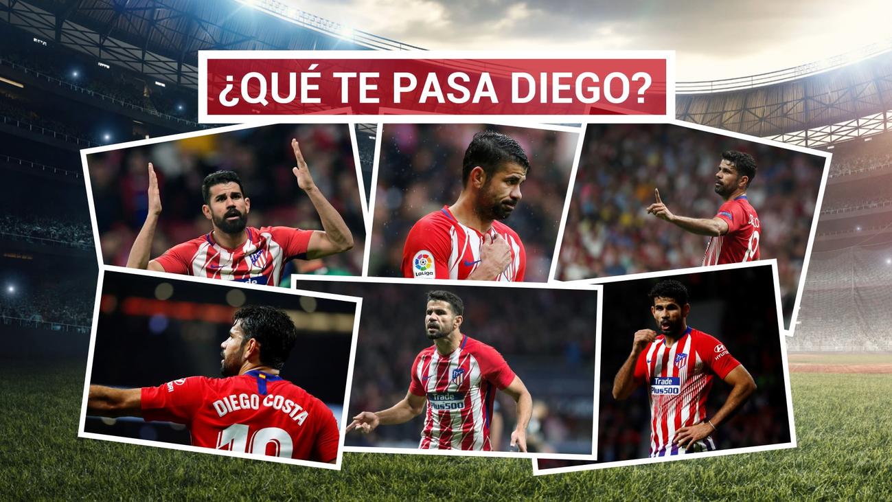 Diego Costa, 18 jornadas sin marcar