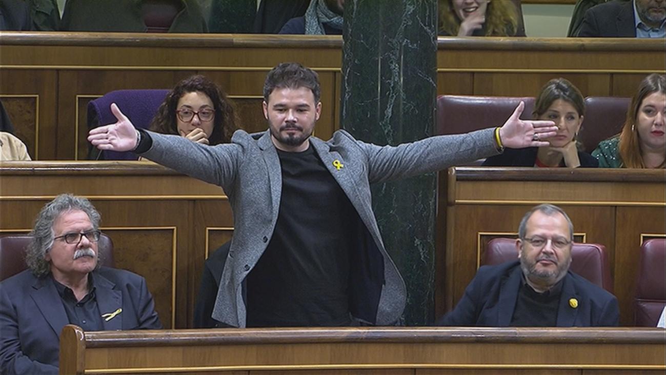 """Rufián llama """"indigno"""" a Borrell y el ministro le acusa  de verter """"estiércol"""""""