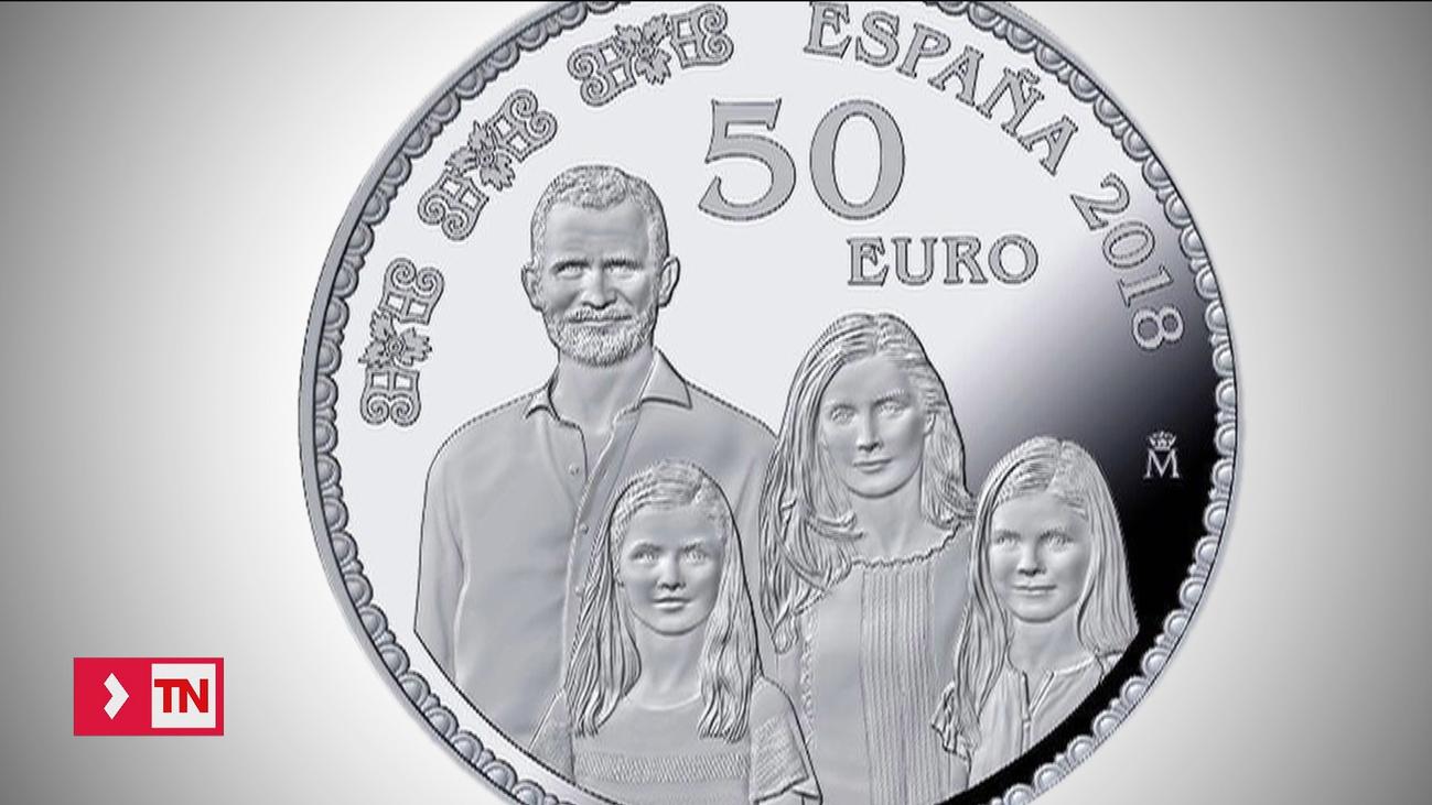 Emiten una moneda de colección en la que aparecen los Reyes y sus hijas