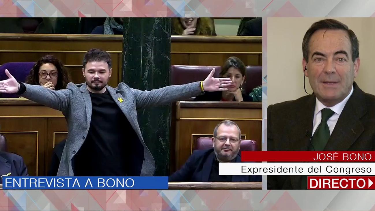 """Bono: """"Me ha dado la impresión de que Rufián lo que quería era que lo echaran del hemiciclo"""""""