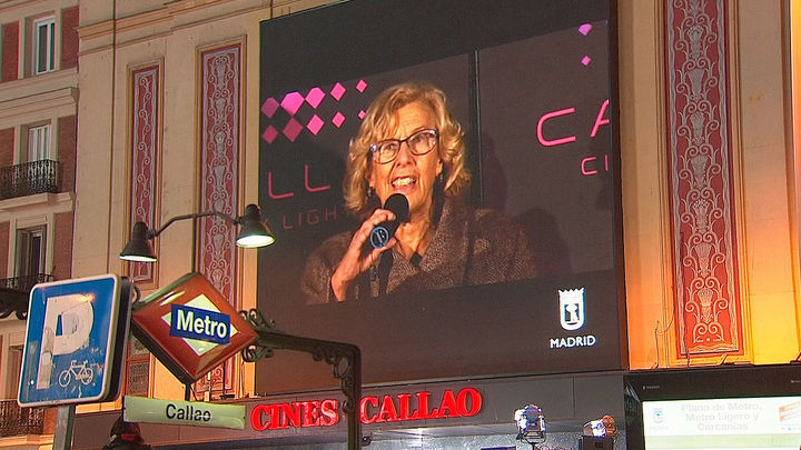 Manuela Carmena en la inauguración de la nueva Gran Vía