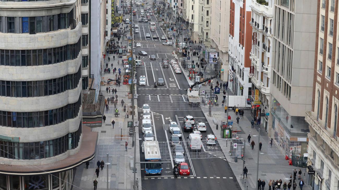Desde las alturas se ve el mayor espacio para los peatones