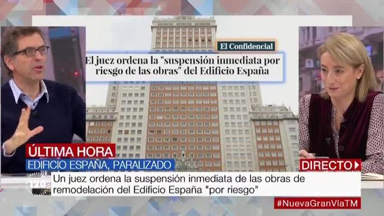 Un juzgado ordena paralizar las obras del Edificio España