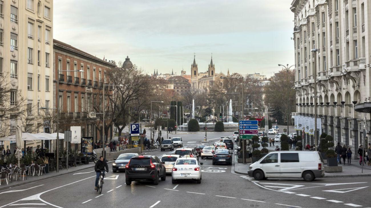 Tráfico en el centro de Madrid