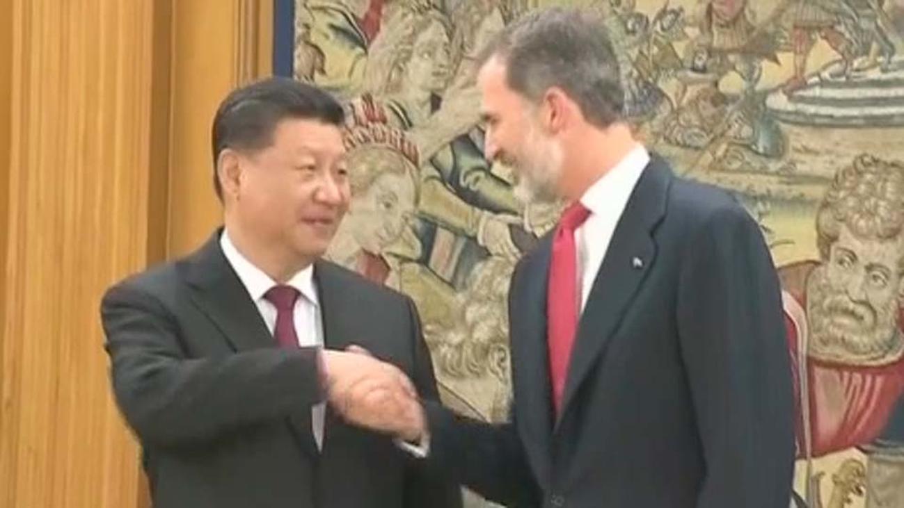 Cena de bienvenida en el Palacio de la Zarzuela al presidente chino, Xi Jinping