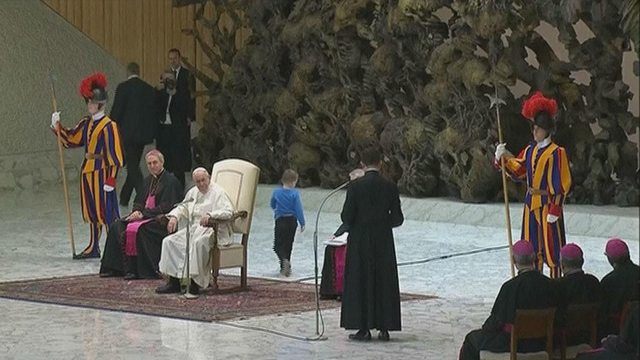 Un niño argentino, protagonista en la audiencia general del papa Francisco