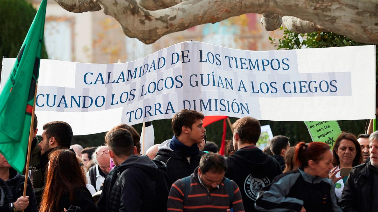 """Torra ofrece """"una república responsable de sus actos"""" ante la protesta social"""