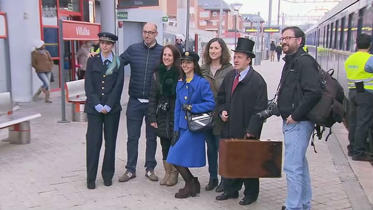 Un tren histórico celebra los 130 años del trayecto Villalba-Segovia