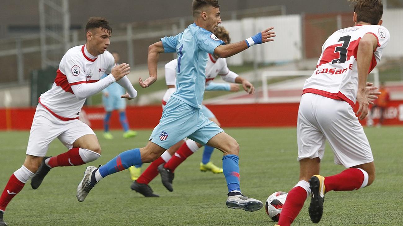 Gol de Joaquín, del Atleti B, al Sanse (2-0)