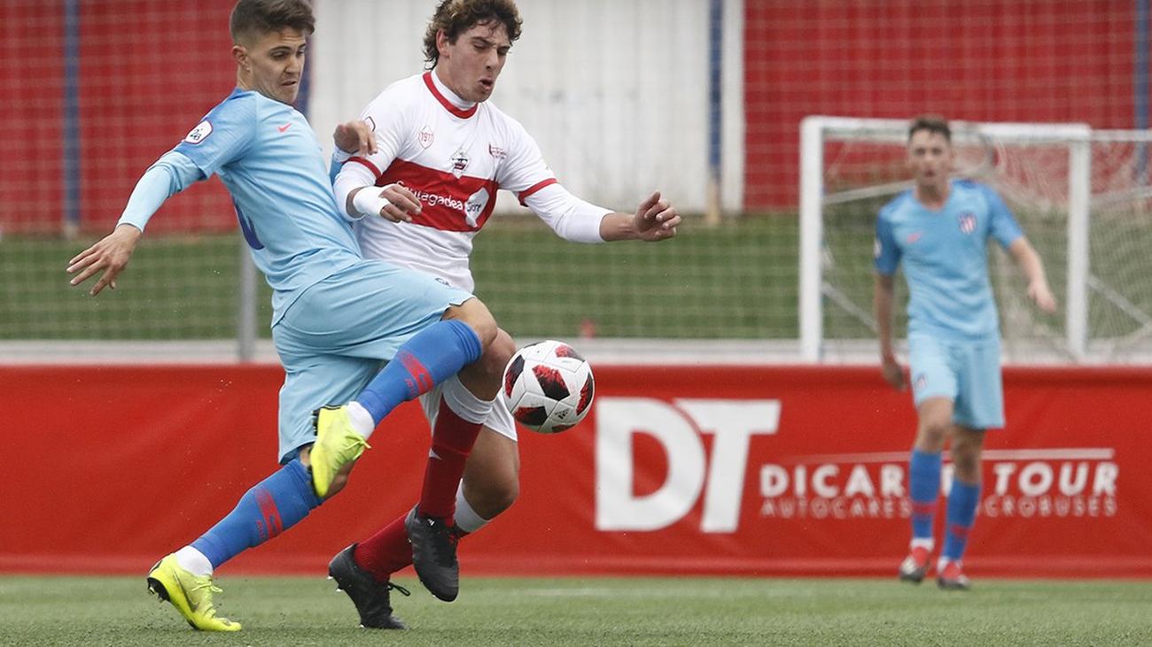 Gol de Óscar, del Atleti B, al Sanse (1-0)