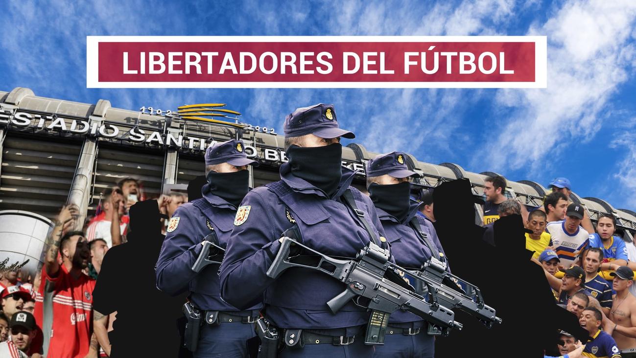 Tres anillos de seguridad rodearán el Bernabéu en la final Boca-River