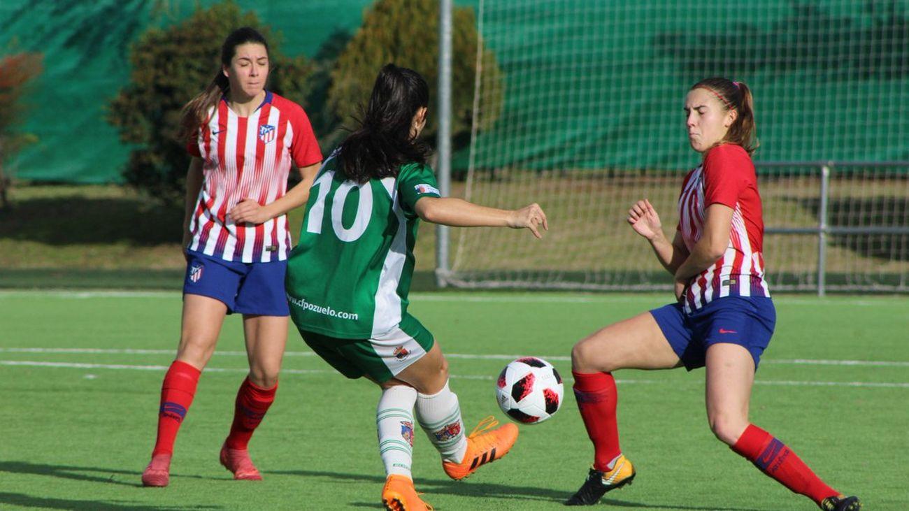 1-0. El Pozuelo vence por la mínima al Atlético B