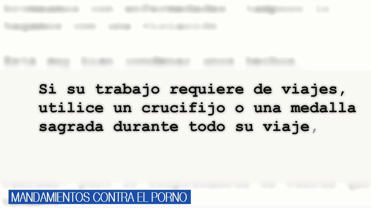 Los doce mandamientos del Obispado de Alcalá para dejar el porno
