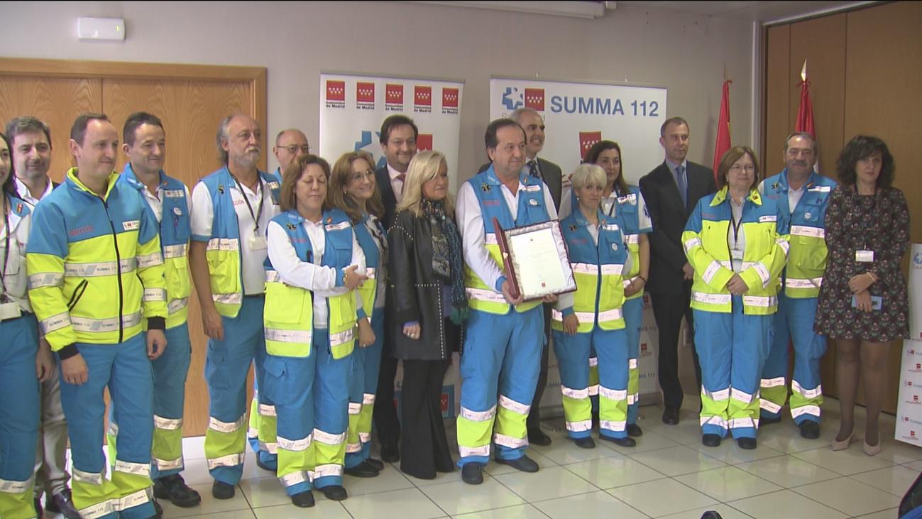 El SUMMA 112 galardonado por  revertir más de una parada cardiorrespiratoria al día