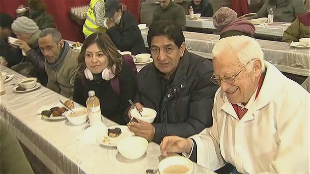 Palmeritas solidarias de Morata de Tajuña para los 'sintecho'  del padre Ángel