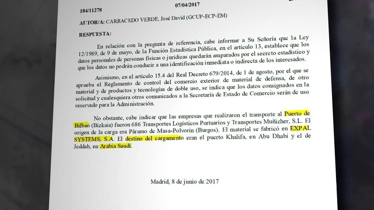 Así verificaron los periodistas qué empresa española vende proyectiles a Arabia Saudí