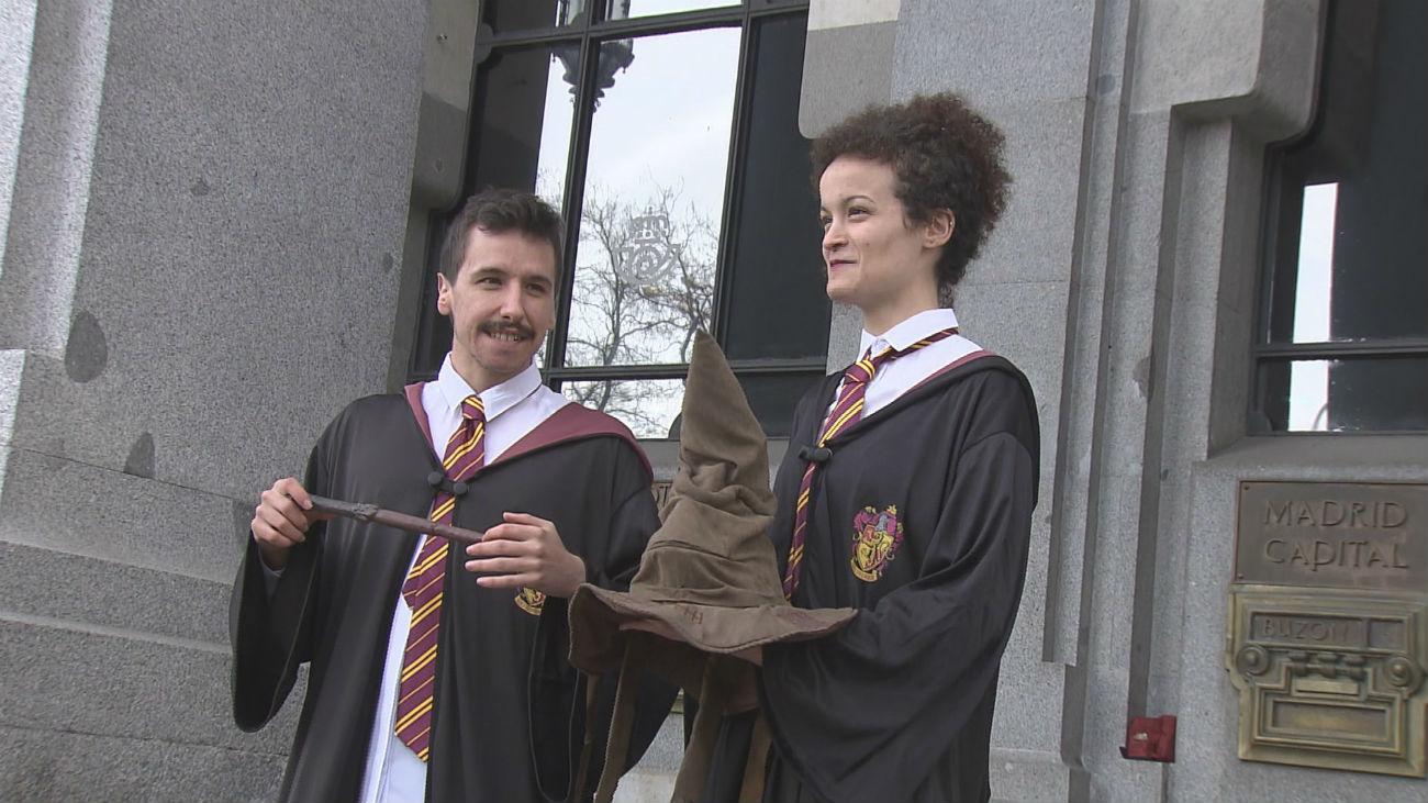 Harry Potter lleva su magia a la oficina de Correos de Cibeles