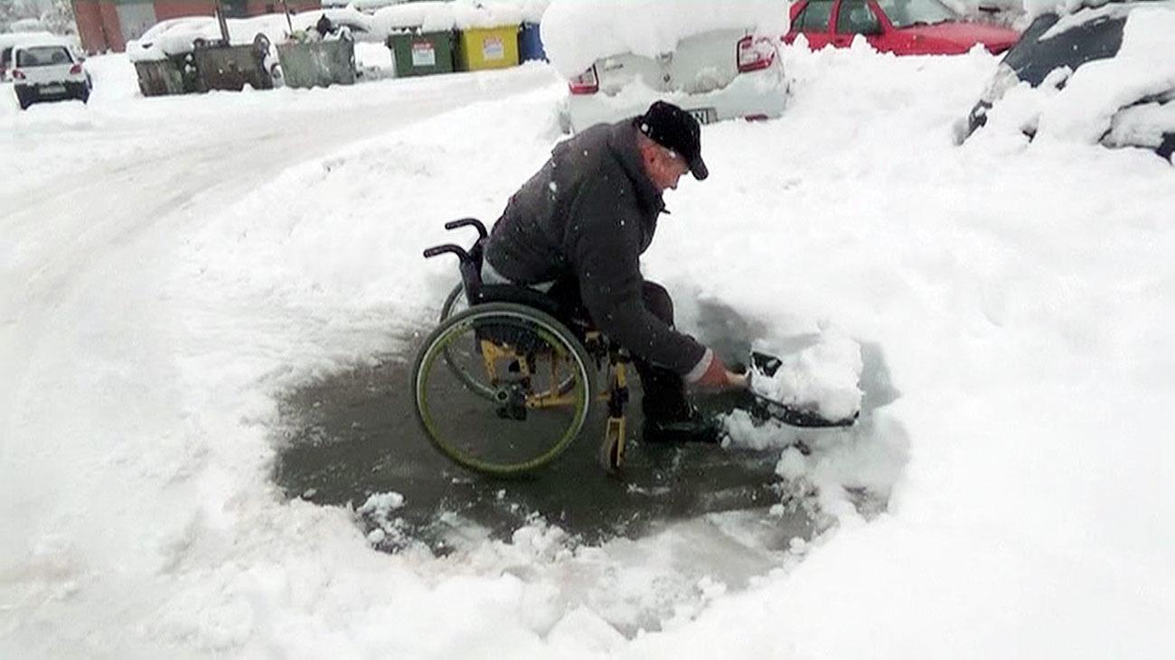 Temporal de frío y nieve en Rumanía