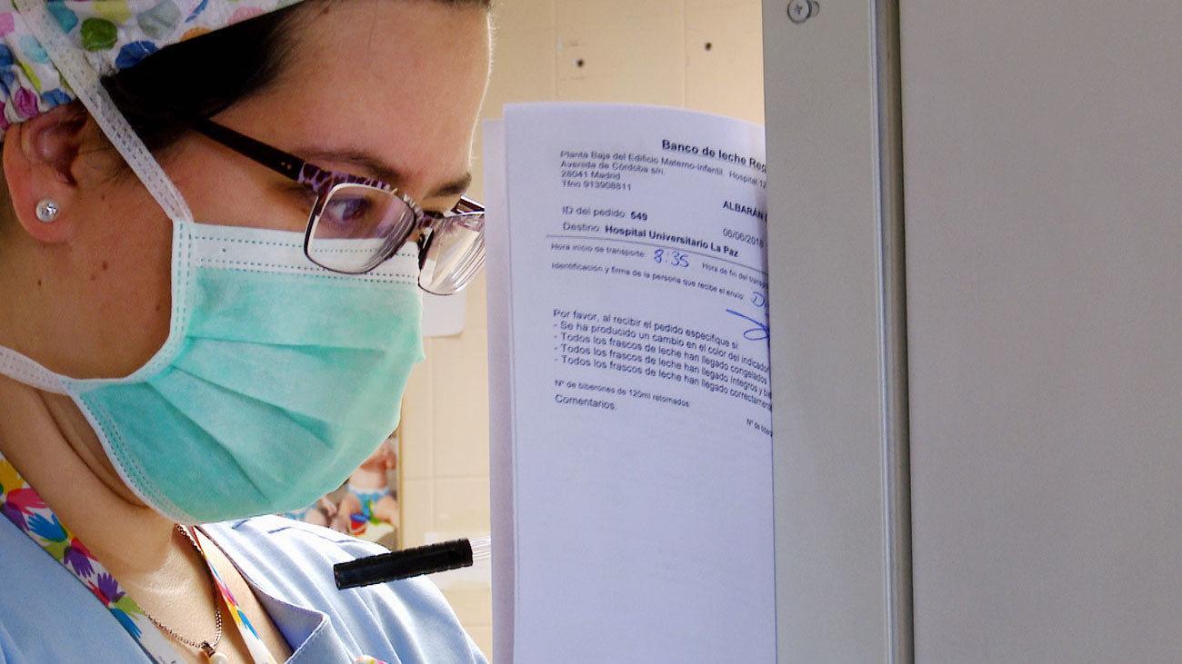 Enfermera del Hospital La Paz