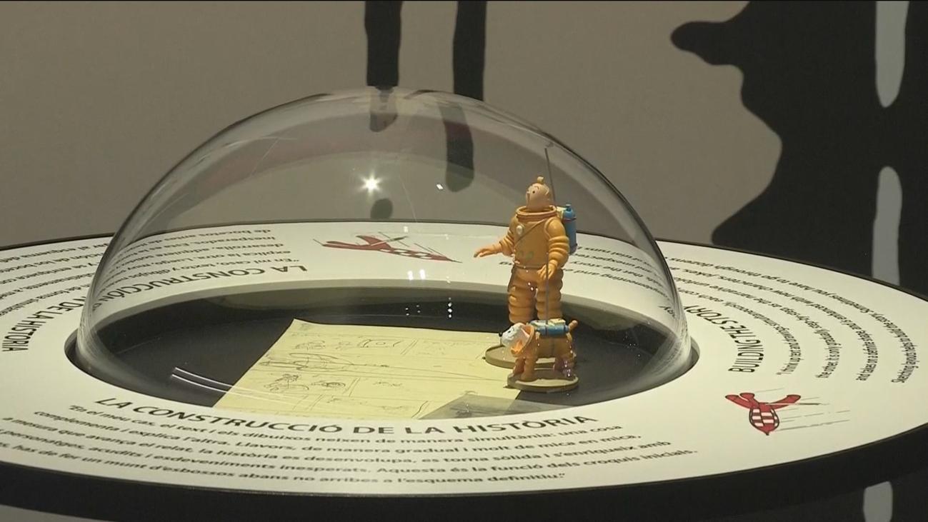 La conquista de la Luna por Tintín y el Apolo 11 confluyen en el CosmoCaixa de Barcelona