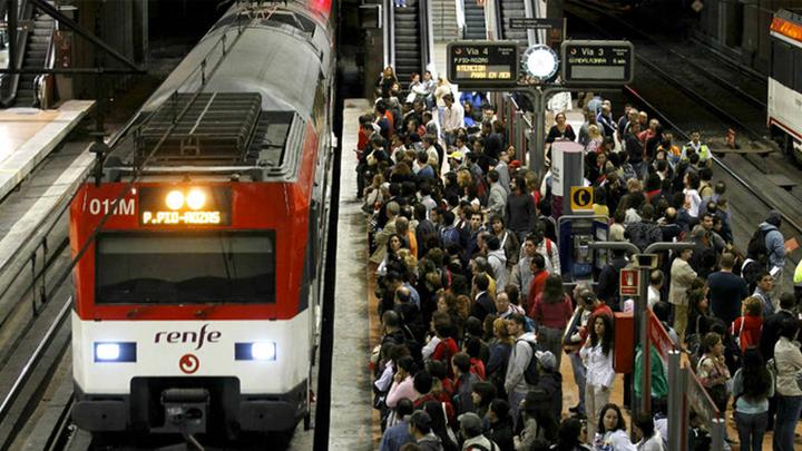 Sólo circularán el 50% de los trenes de Cercanías este viernes día 8 de marzo