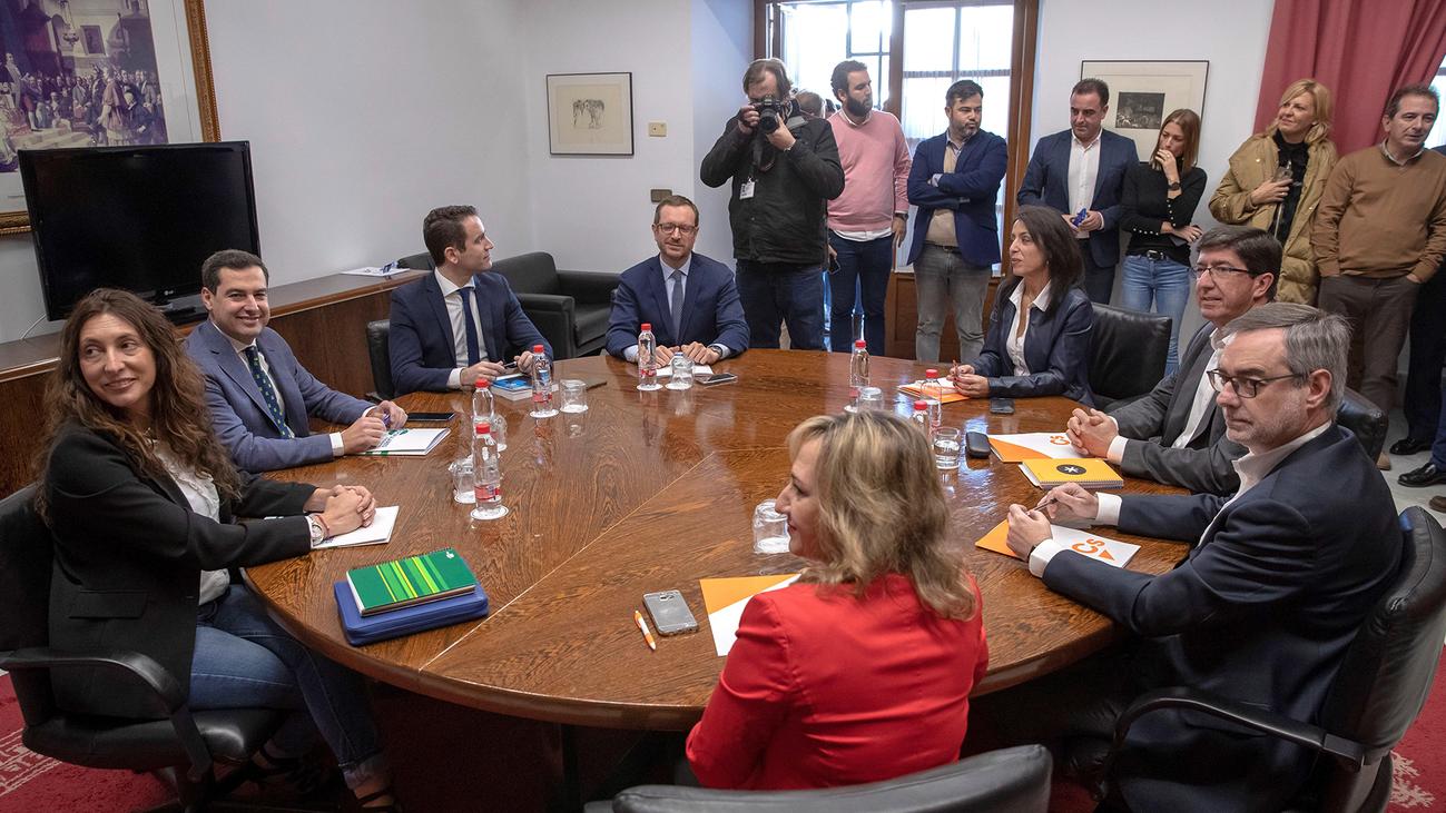"""Acuerdo de PP y Ciudadanos para un modelo de financiación """"solidario y justo"""" en Andalucía"""